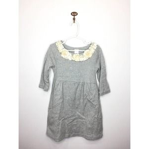 Crewcuts Gray Dress Cream Flowers Girls 6 Years